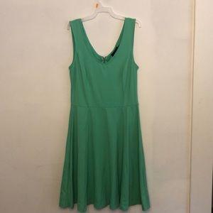 Sea foam green swing dress